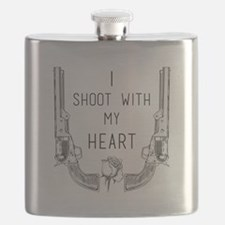 Gunslinger - I Shoot with My Heart Flask
