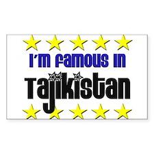 I'm Famous in Tajikistan Rectangle Decal