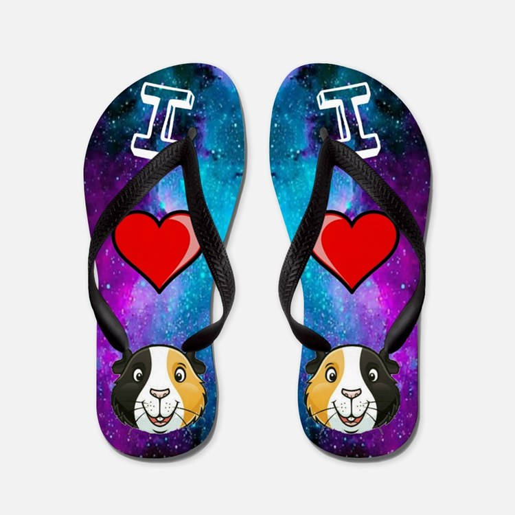 Cute Loves guinea pigs Flip Flops