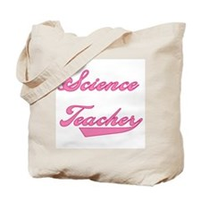 Science Teacher Pink Text Tote Bag