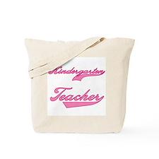 Kindergarten Teacher Pink Text Tote Bag