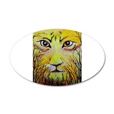 Beautiful Mighty Lion Face Wall Decal