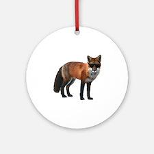Shady Fox Round Ornament