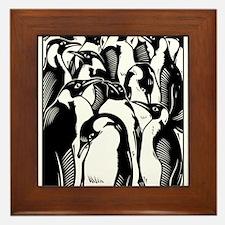 Penquins Framed Tile