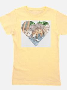pink t-shirt- Little Wolf at creek T-Shirt