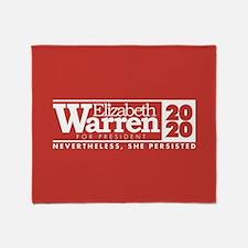 Warren 2020 Persist Throw Blanket