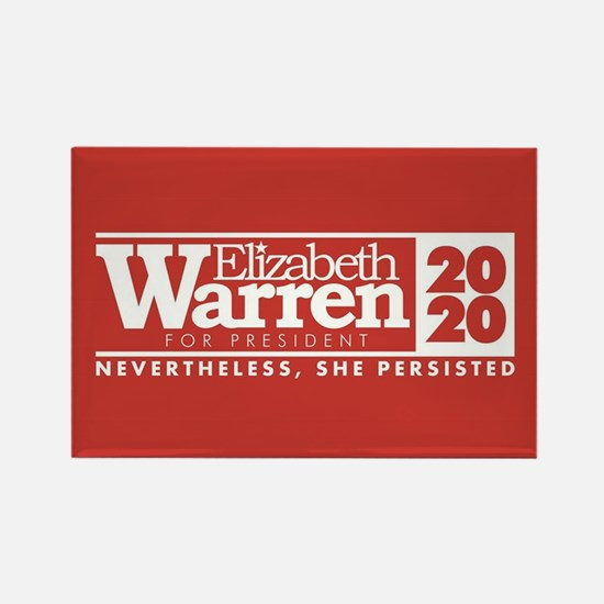 Warren 2020 Persist Rectangle Magnet