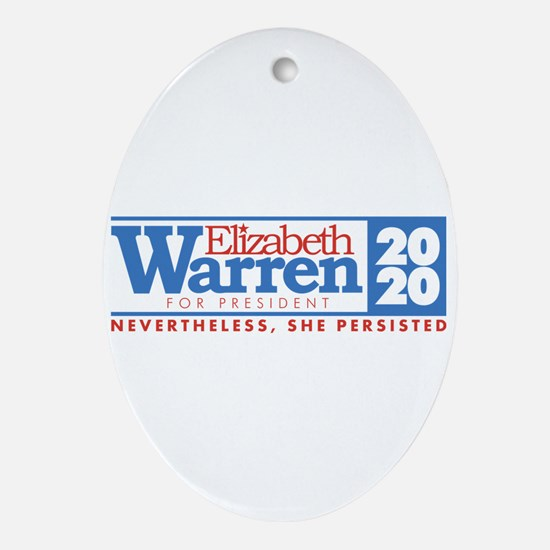 Warren 2020 Persist Oval Ornament