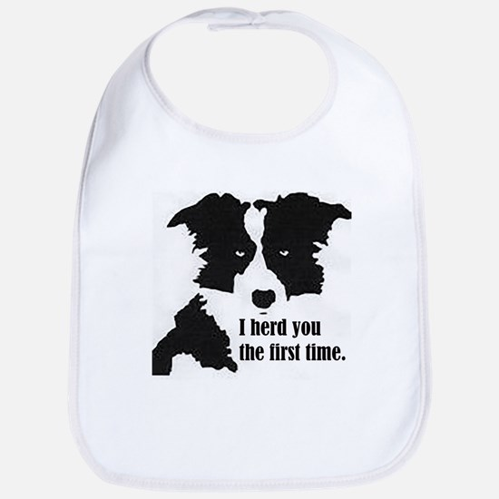 Border Collie Herd You Baby Bib