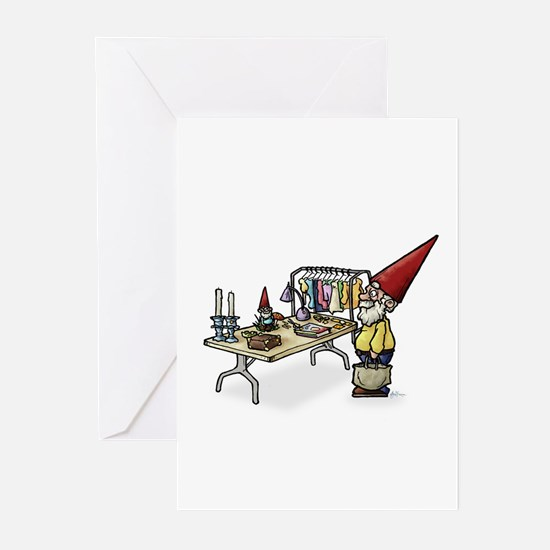 Yard Sale Gnome Greeting Cards
