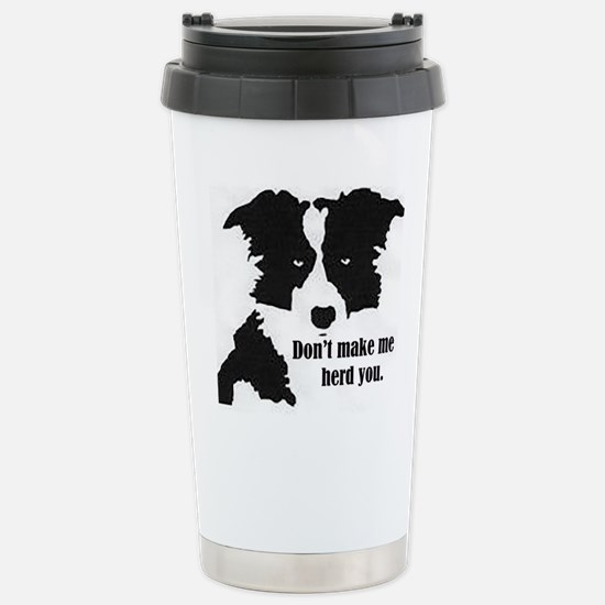 Border Collie Art Travel Mug
