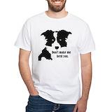 Border collie Mens Classic White T-Shirts