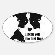 Border Collie Herd You Decal