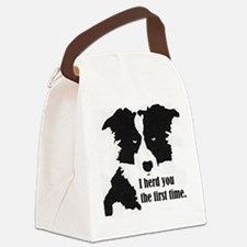 Border Collie Herd You Canvas Lunch Bag