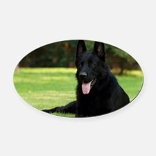 German Shepherd Oval Car Magnet