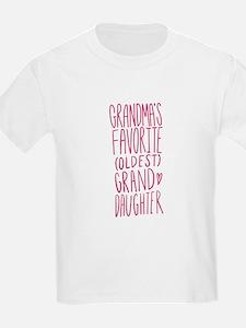 Grandma's Favorite Oldest Granddaughter T-Shirt