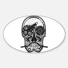 Bike Parts Skull Decal