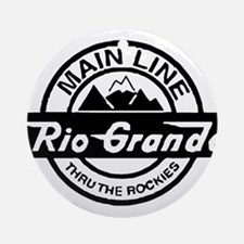 Rio Grande Rockies Railroad Round Ornament