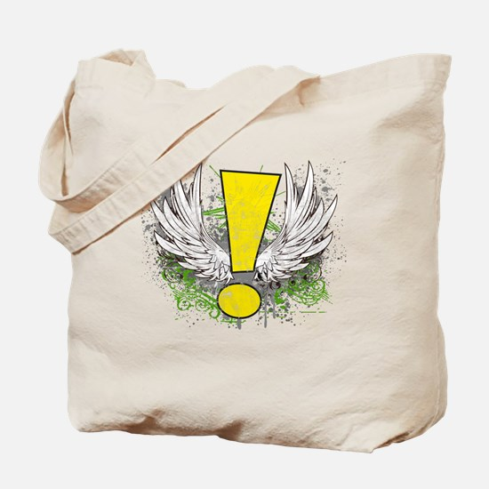 Winged Whee Exclamation Point Tote Bag