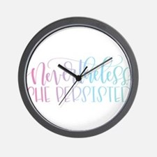 Nevertheless, She Persisted rainbow Wall Clock