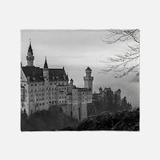 Funny Neuschwanstein castle Throw Blanket