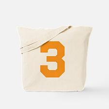 3 ORANGE # THREE Tote Bag