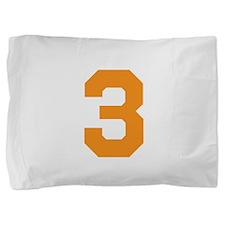 3 ORANGE # THREE Pillow Sham
