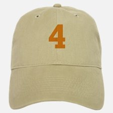 4 ORANGE # FOUR Baseball Baseball Cap
