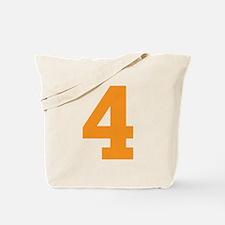 4 ORANGE # FOUR Tote Bag