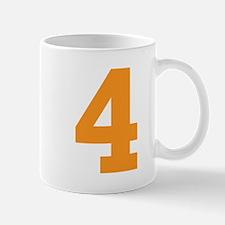 4 ORANGE # FOUR Mug