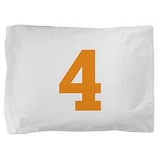 4 ORANGE # FOUR Pillow Sham