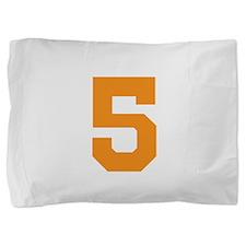 5 ORANGE # FIVE Pillow Sham