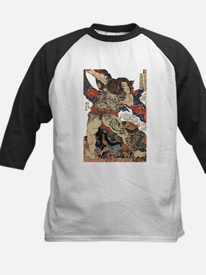 japanese tattoo warrior Samurai Baseball Jersey