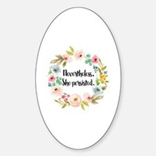Cute Feminism Sticker (Oval)