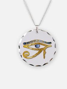 Eye Of Horus - Blue Gold 1 Necklace