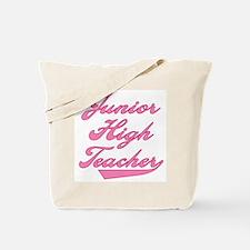 Junior High Teacher Pink Text Tote Bag