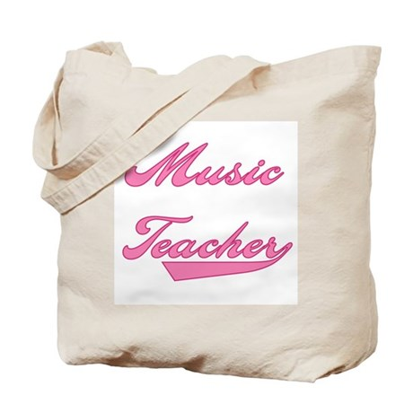Music Teacher Pink Text Tote Bag