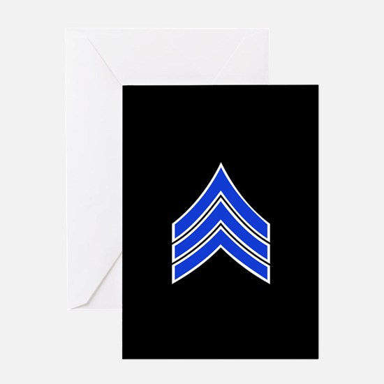 Police Sergeant (Blue) Greeting Cards