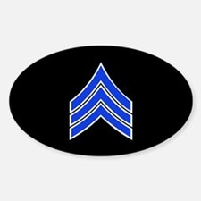 Police Sergeant (Blue) Decal
