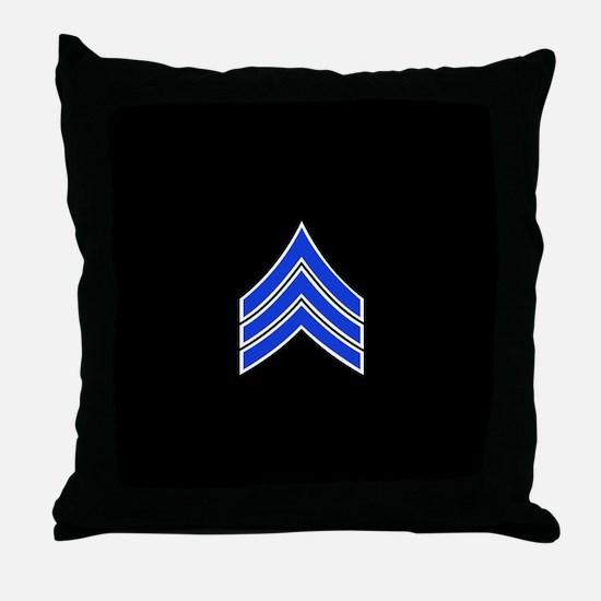 Police Sergeant (Blue) Throw Pillow