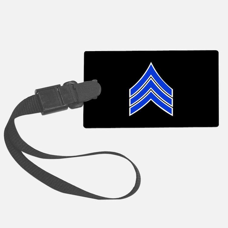 Police Sergeant (Blue) Luggage Tag