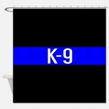 Police K-9 (Thin Blue Line) Shower Curtain