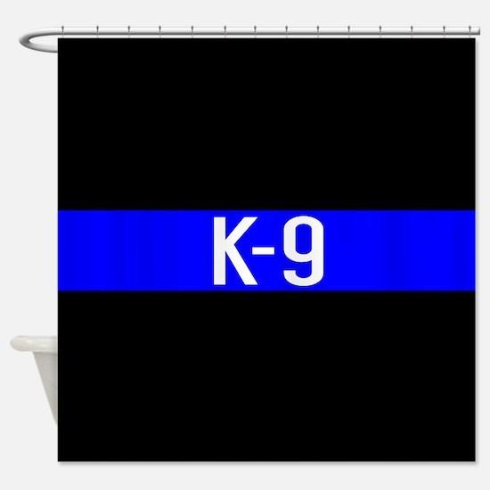 Police K-9 (Thin Blue Line) Shower Curtain