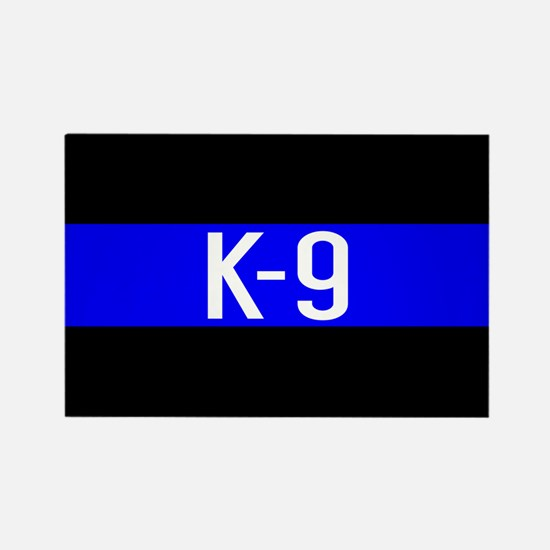 Police K-9 (Thin Blue Line) Rectangle Magnet