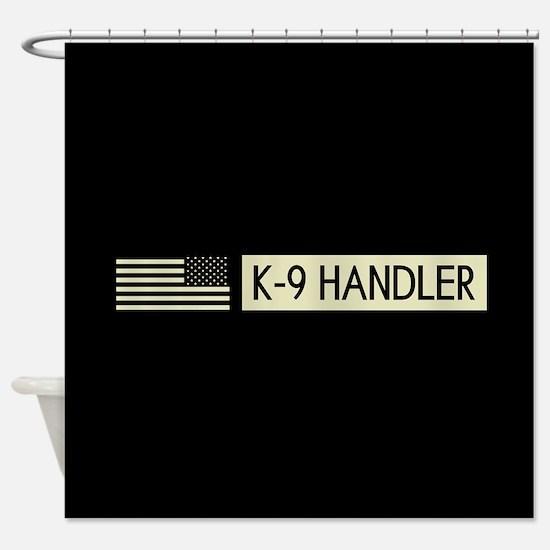 K-9 Handler (Black Flag) Shower Curtain