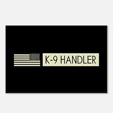 K-9 Handler (Black Flag) Postcards (Package of 8)