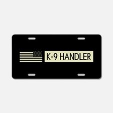 K-9 Handler (Black Flag) Aluminum License Plate