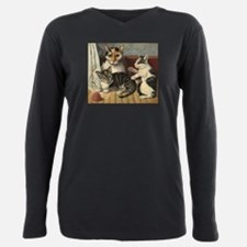 Cat and Kittens American Art T-Shirt