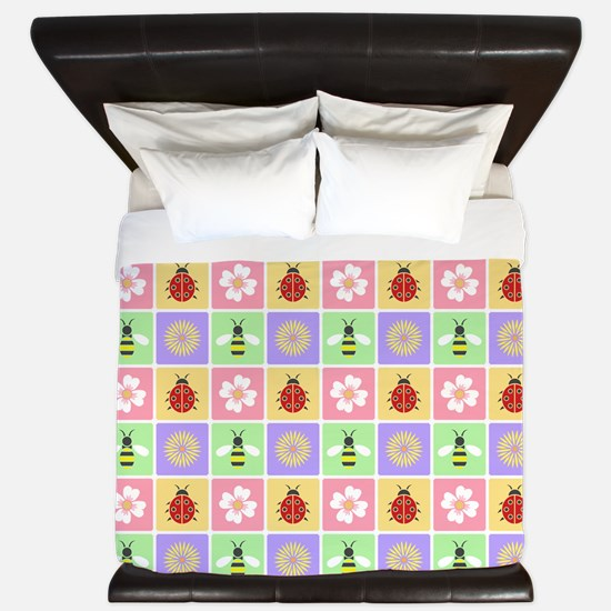 Spring Patches King Duvet