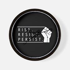 Rise. Resist. Persist. Wall Clock